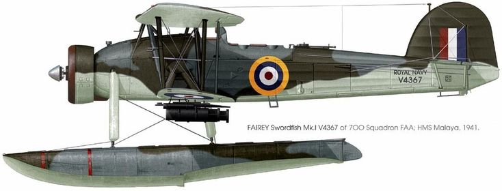 Fairey Swordfish of the HMS Malaya