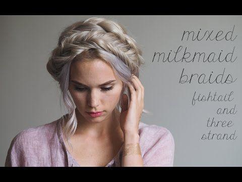 Best Milkmaid Braids Images On Pinterest Milkmaid Braid - Diy hairstyle knotted milkmaid braid