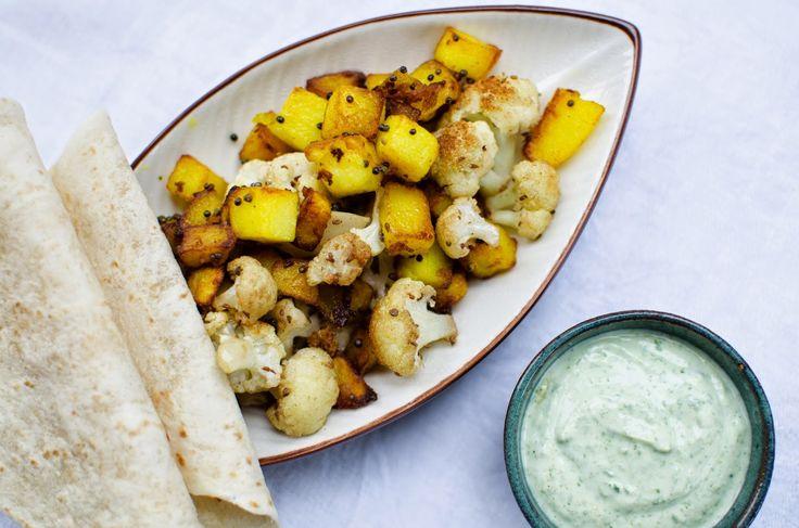 FARBROR GRÖNS RECEPT: Potatis och blomkål med Indiska smaker