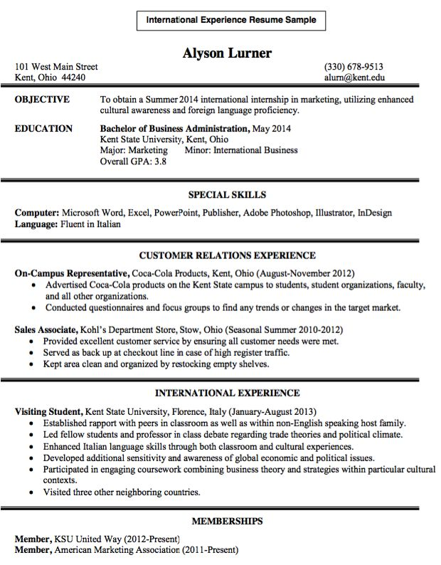 Pin by ririn nazza on FREE RESUME SAMPLE Pinterest Resume - international experience resume