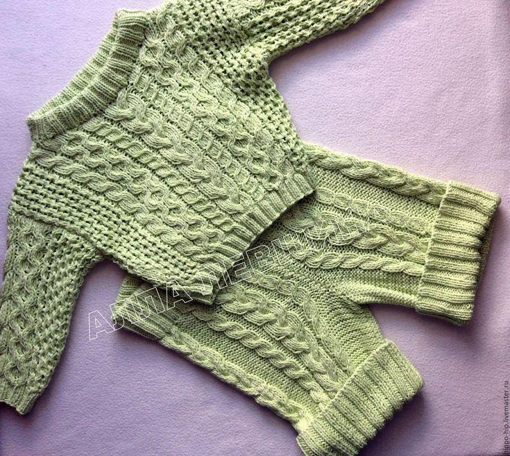 Купить Свитер детский Санье - комбинированный, свитер детский, свитер с рисунком, свитер с косами