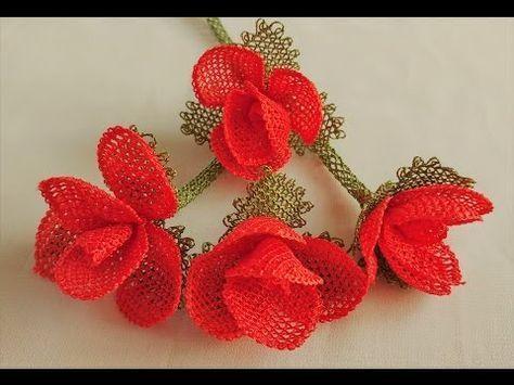 Tespih başlığı İğne oyaları Lilyum Çiçeği Sesli anlatımla - YouTube