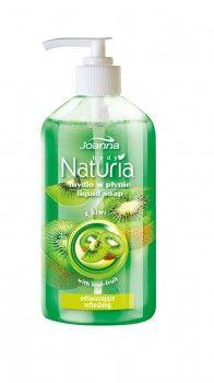 Mydło w płynie odświeżające z kiwi Naturia body. Skóra jest oczyszczona, nawilżona, gładka w dotyku i przyjemnie pachnąca.