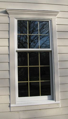 Image result for basic exterior window mantel