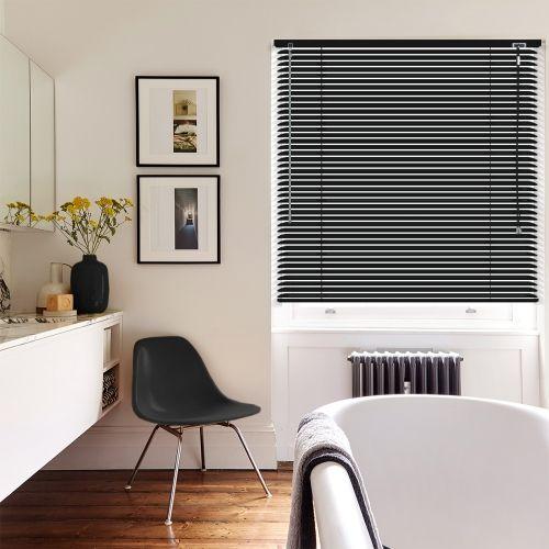Matt Black Venetian blinds