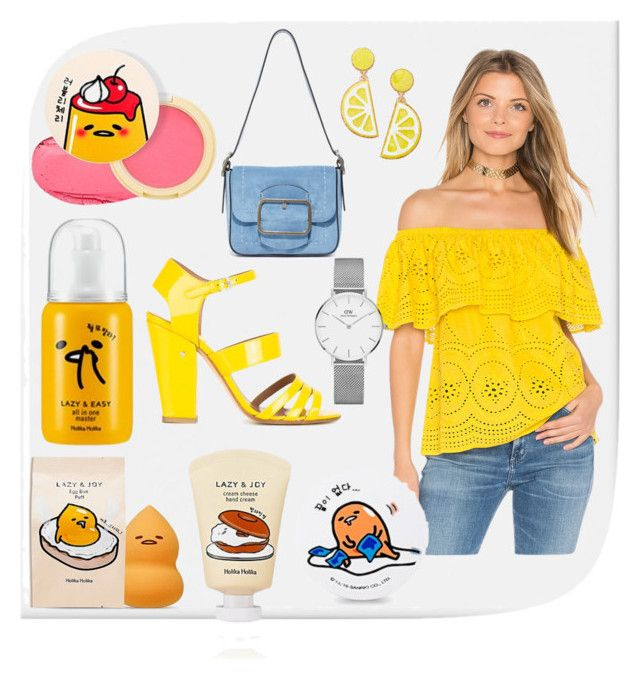 """""""#lazyegg"""" by lacrima ❤ liked on Polyvore featuring Holika Holika, cupcakes and cashmere, Laurence Dacade, Tory Burch, Daniel Wellington and Celebrate Shop"""