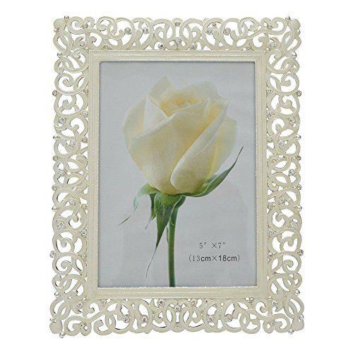 Gift Garden Picture Frame - Elegant White Metal Frames - Table Top or Wedding Decor Photo Frame 5x7 -inch Gift Garden http://www.amazon.com/dp/B012SBRPPG/ref=cm_sw_r_pi_dp_Yl7iwb1665DQZ