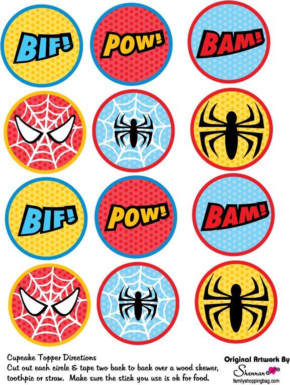 http://www.familyshoppingbag.com/spiderman_printables.htm#.VSdcZFI5DAW