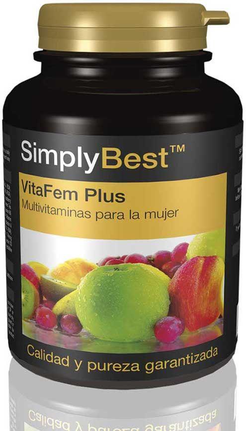 Suplementos de VitaFem Plus   Un multivitamínico para mujeres en edad fértil de 18 a 50 años.   Vitaminas B para la función cerebral y el equilibrio hormonal Selenio y zinc para reforzar el pelo, la piel y las uñas Yoduro para sostener la función de la tiroides Proporciona la ingesta diaria recomendada de hierro