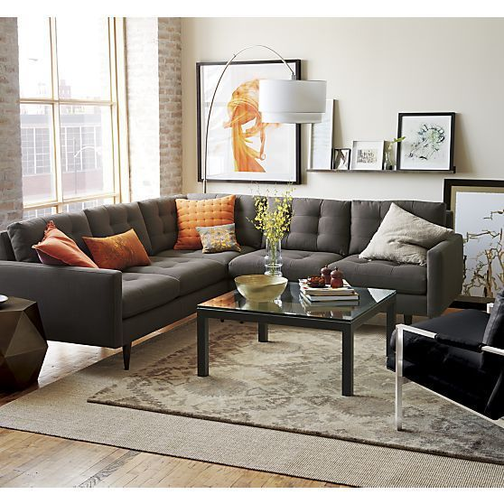 Ideas para decorar tu sala salon en color gris y naranja - Sofa gris como pintar las paredes ...