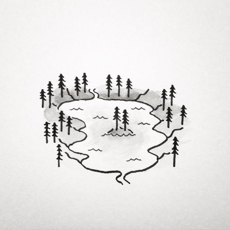 how to draw a simple river