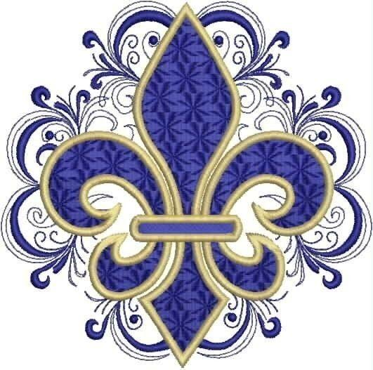 Diseño de bordado de encaje Fleru de Lis por DrusDesigns en Etsy