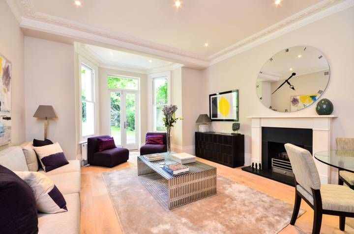 Reception room basement flat London W8  #cutlerandbond #basementflat #gardenflat #londonproperty