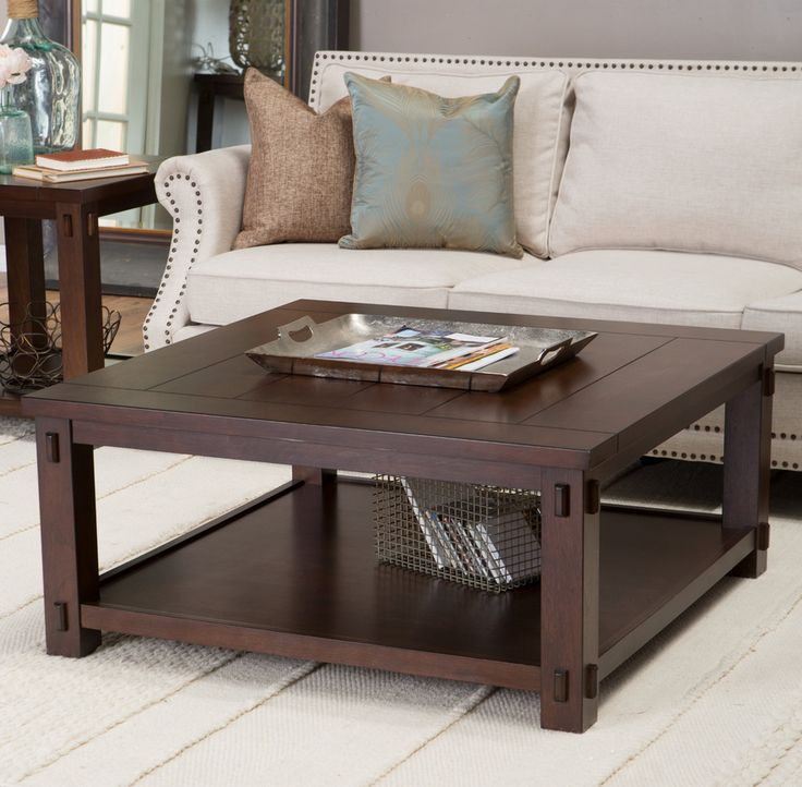 Anything but square, this  rustic square coffee table will be the attention grabber of your living room.