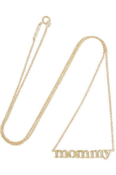 Jennifer Meyer - Mommy 18-karat Gold Diamond Necklace - one size