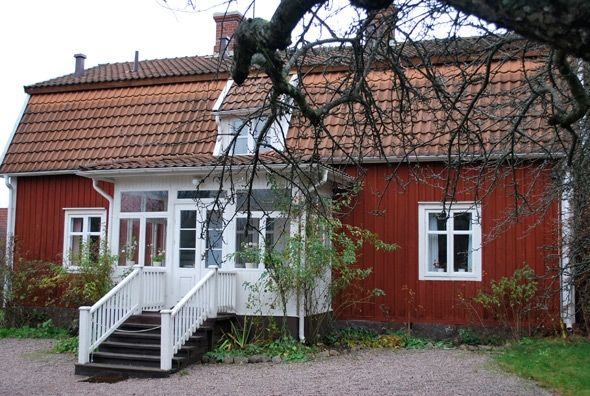 THE CHILDHOOD HOME Of Astrid Lindgren  -  In 1895, Astrid's grandparents took over the lease of the Näs Rectory and moved into the red house. This was where Astrid grew up.