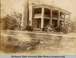 1918 Hurricane damage :: Historic Photographs of Southwest Louisiana house on corner of Broad and Ford Streets