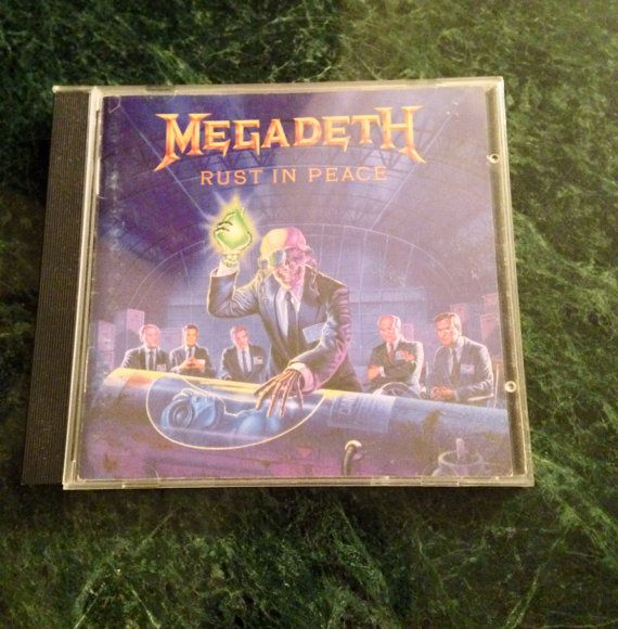Megadeth Rust In Peace compact disc CD music Metallica Dave Mustane heavy metal rock 1990 original best offer free shipping  on Etsy, $19.00