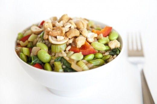 Vegan Cashew Ginger Rice Bowl: Rice Bowls, Bowl Minus, Bowl Noms, Healthy Recipe, Bowls Rice, Cashew Ginger Rice Bowl, Bowl Courtesy