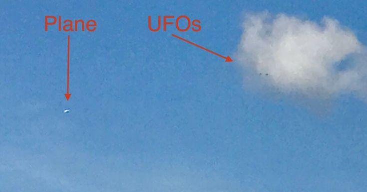 UFO SIGHTINGS DAILY: Three UFOs watch plane flying in Australia, Nov 2017, Photos, UFO Sighting News.