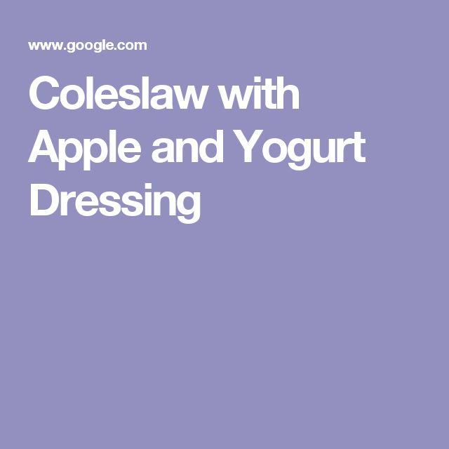 Coleslaw with Apple and Yogurt Dressing