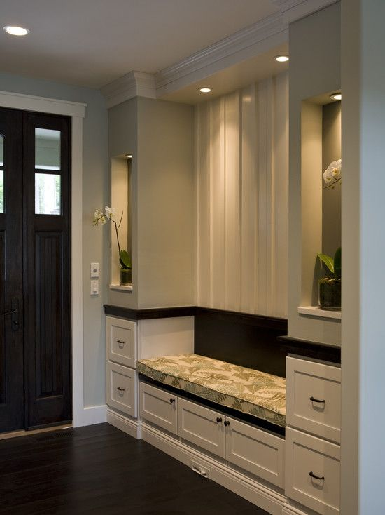 I love the dark wood mixed with the white trim.  Gorgeous!!!