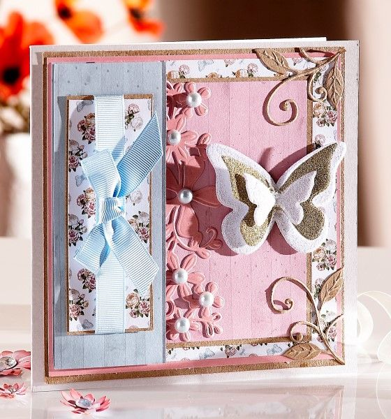 Card Making Inspiration Ideas Part - 19: Butterfly Card Made With The Sara Signature English Country Garden  Collection From Crafteru0027s Companion.