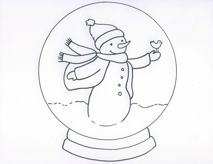 snow globes coloring pages - photo#19