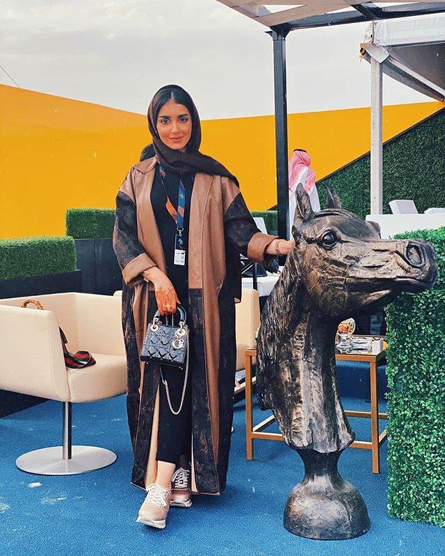 Reposted From Kam 227 استمعت اليوم بزيارة مهرجان الخيول العربية الأصيلة بالمملكة فعلا مهرجان رهيب بمعنى ا Abaya Fashion Dubai Abayas Fashion Muslimah Fashion