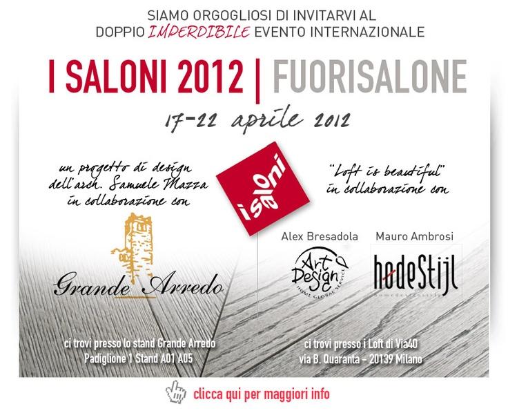#isaloni2012 #fuorisalone #Milano #evento #internazionale #aprile  #Garbelotto #Masterfloor orgogliosi di esserci