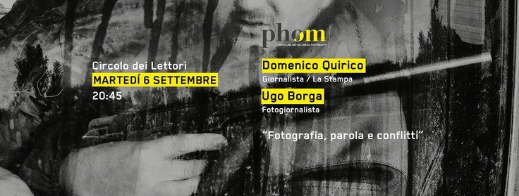 Seconda serata di Incontri 2016 con Ugo Borga fotoreporter e Domenico Quirico inviato de La Stampa.