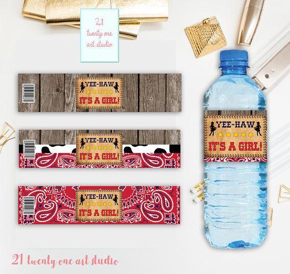 Cowgirl Water Bottle Label Western Water Bottle Label