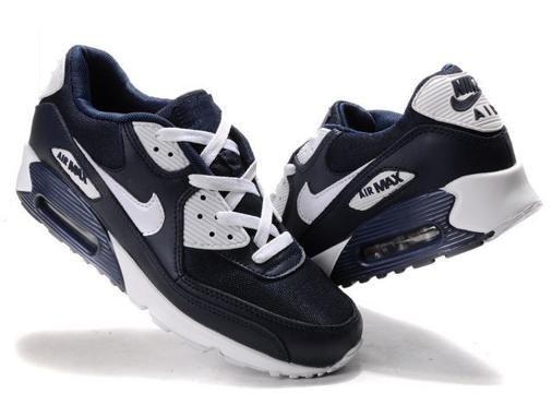 nike air max 90 bleu foncé en ligne blanc noir chaussures de sport pour les hommes