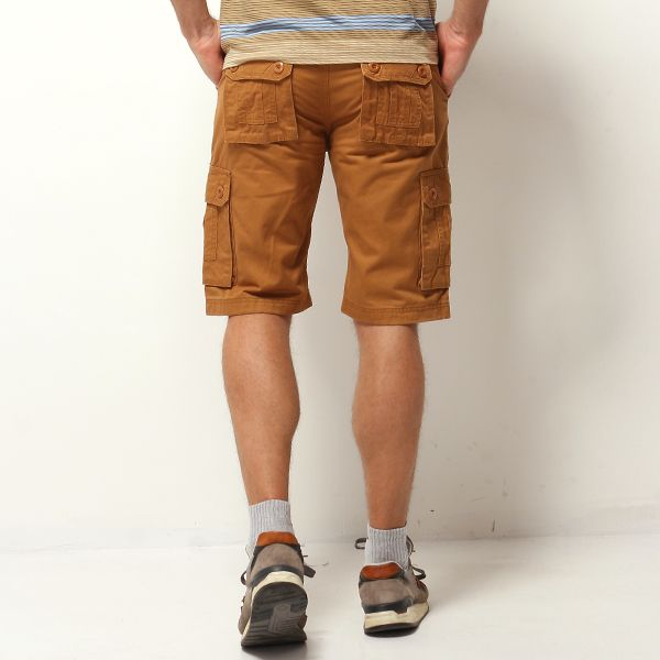 ChArmkpR Plus Size 30-46 Mens Casual Cotton Solid Color Big Pockets Loose Cargo Military Shorts