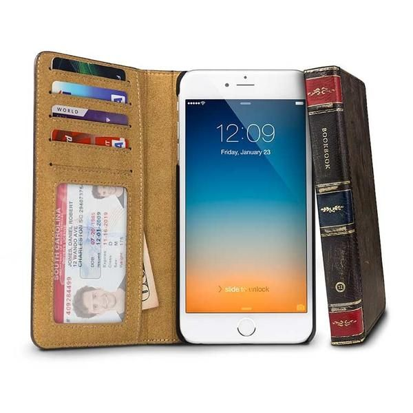 Need a conversation starter? Bring out your BookBook cover for iPhone. Combining wallet and phone cover, inside a vintage book look, BookBook gives you everything you need with a unique style