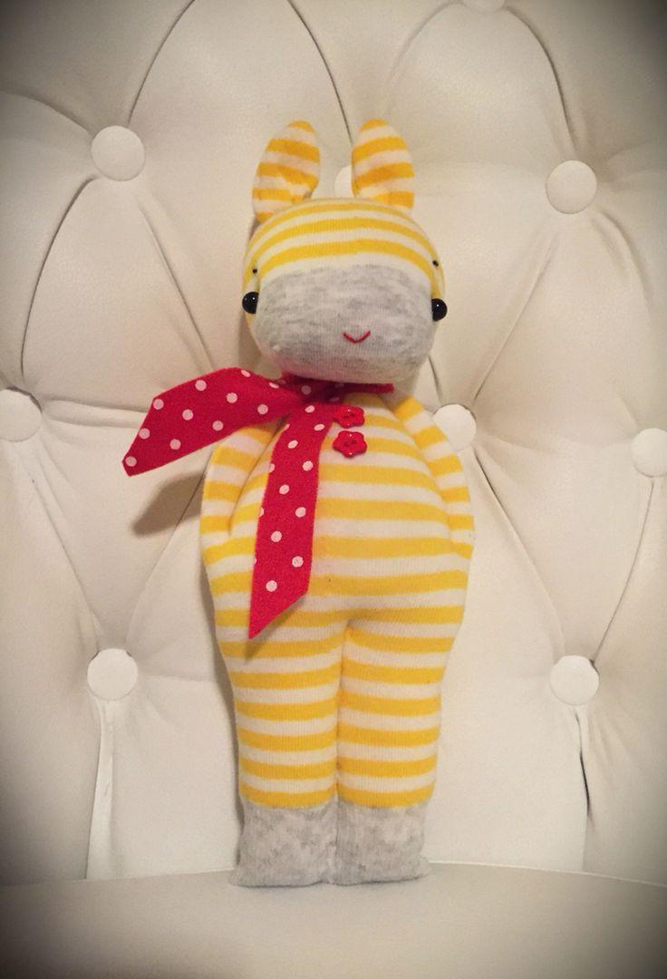 Coniglietto creato con calze