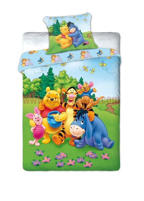 Detské bavlnené obliečky Disney Macko pú Pooh 160x200 cm