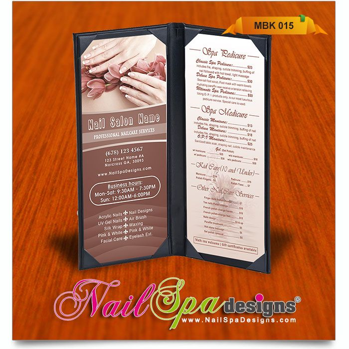 The 50+ best Nail Spa Menu Book Design images on Pinterest | Book ...