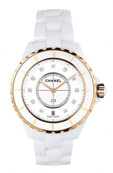The original Chanel J12 33mm Pink Gold Watch @}-,-;--