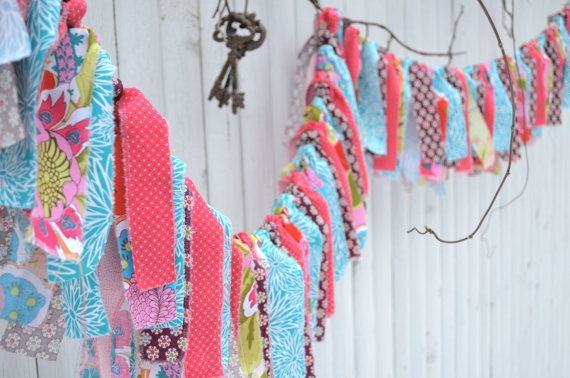 Awesome fabric strip banner. The colors are so vibrant and beautiful!