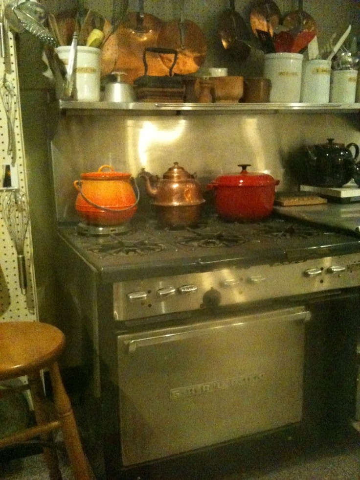 Julia Childs' stove---The Child's bought this used restaurant 6-burne...
