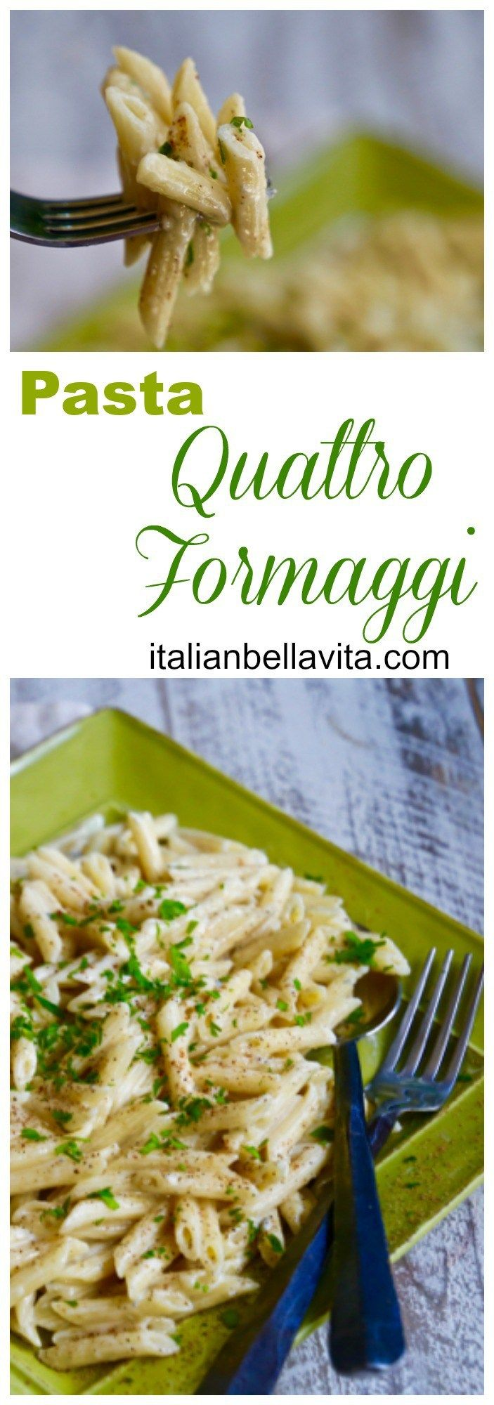 Pasta Quattro Formaggi for #SundaySupper Super EASY and Super DELICIOUS 4-Cheese Pasta!