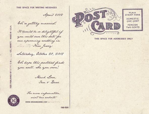 Postcard backs dating