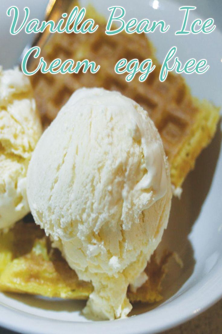 Vanilla Bean Ice-Cream – egg free