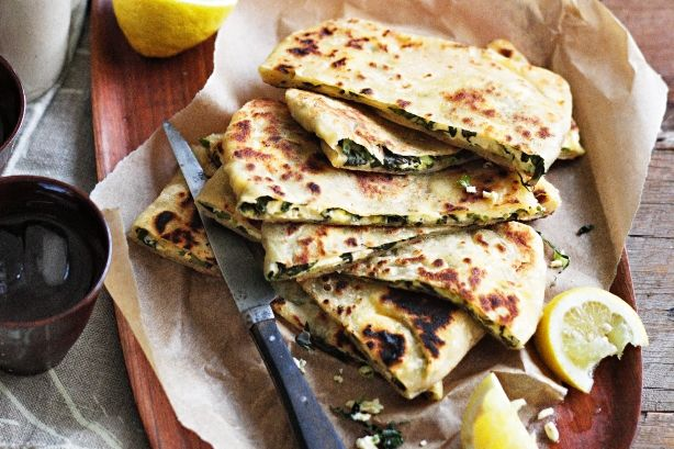 Try your hand at making this rustic Turkish snack stuffed with silverbeet and salty feta. Once these moreish parcels are off the barbie, devour them hot with a squeeze of lemon.