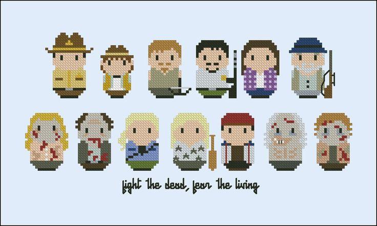 The Walking Dead - Mini People - Pattern by CloudsFactory