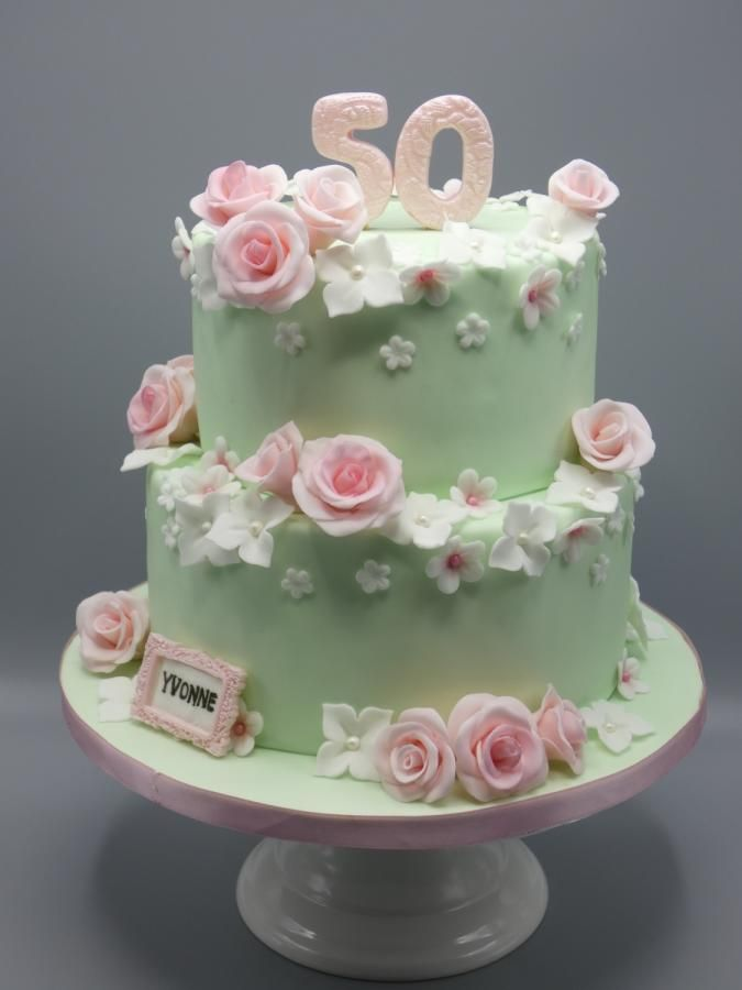 Flower cake  by Olina Wolfs