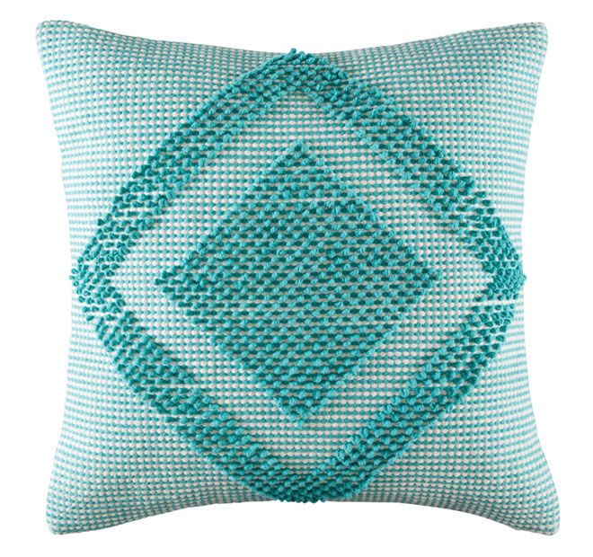 Kas Room Jelani 50x50cm Filled Cushion Teal