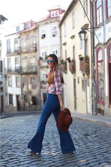 Moda bloguera: pantalones vaqueros de campana