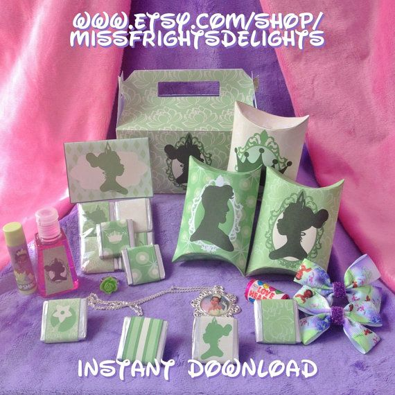 Frog Princess Party Pack  Instant Download by MissFrightsDelights